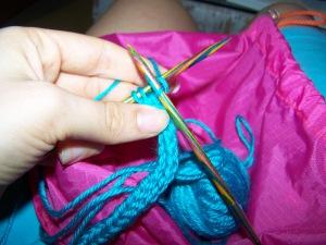 I-cord knit row