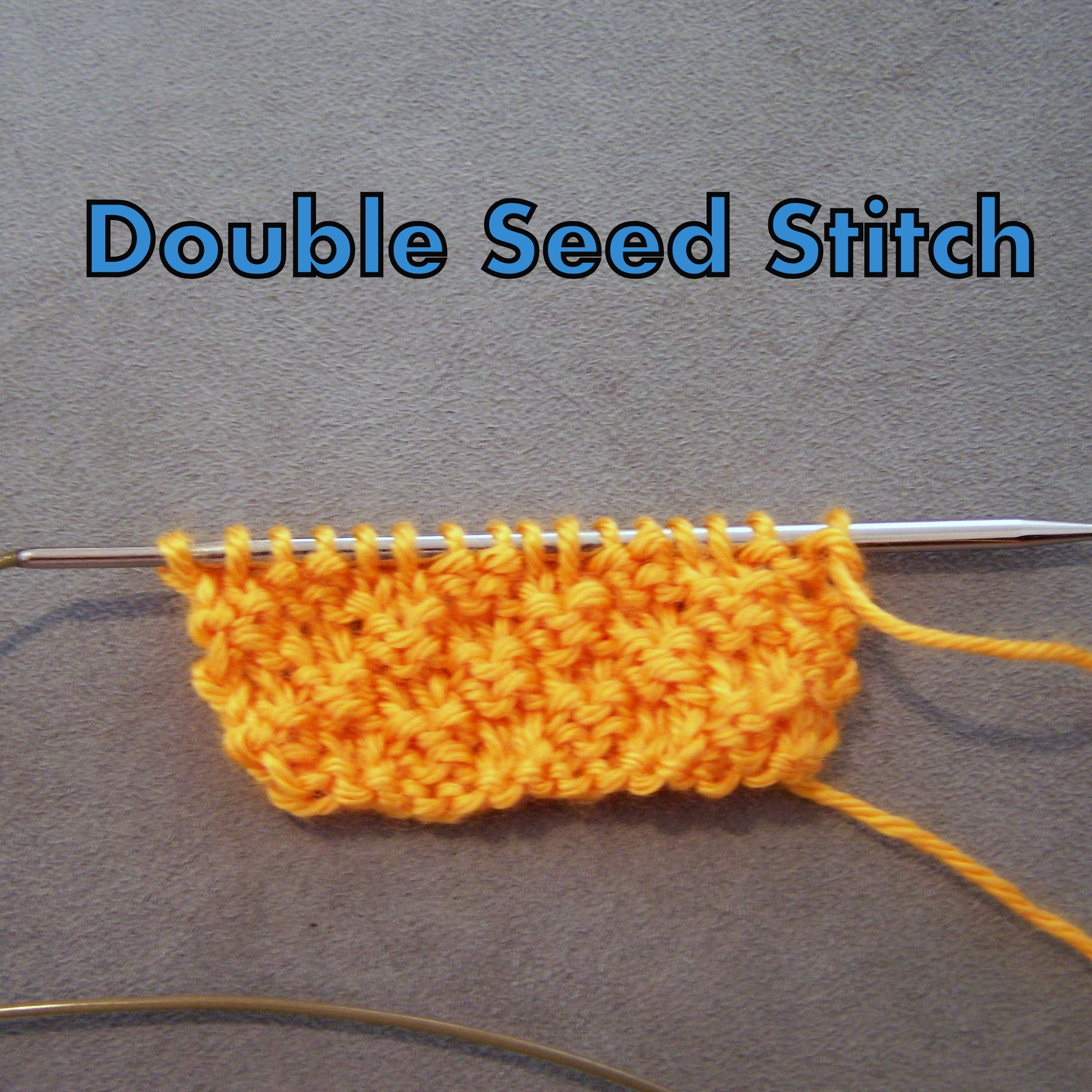 Double Seed Stitch Knitwerks