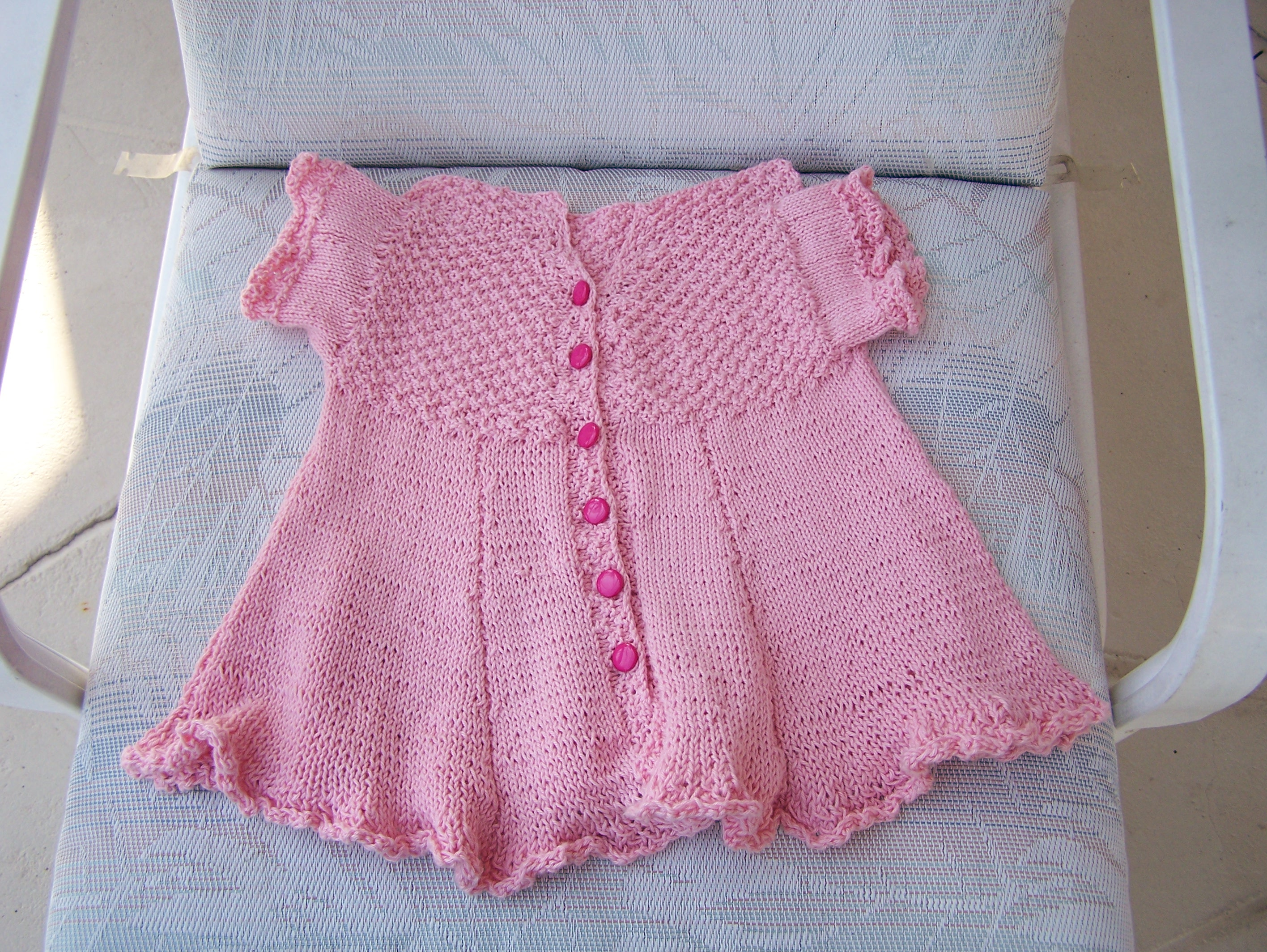 Knitting Pattern Baby Dressing Gown : Baby Dress Knitwerks